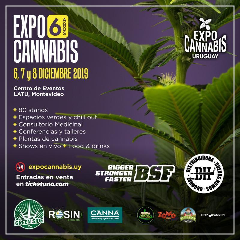 Expocannabis Uruguay 6, 7 y 8 de diciembre 2019